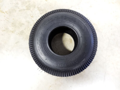 New 4.10//3.50-4 Air-Loc Sawtooth Tread Tire 4 Ply  4.10-4 with free stem
