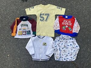 Vintage-80s-90s-Lot-Of-5-Boys-Shirts-Sizes-2T-L-Resell-Lot-Mixed-Clothing