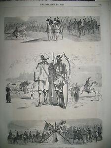 POLYGONE-CARROUSSEL-17e-Rgt-D-039-ARTILLERIE-A-CHEVAL-L-039-ILLUSTRATION-DU-MIDI-1863