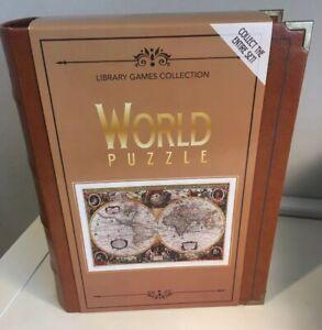 Juegos-De-Coleccion-De-La-Biblioteca-De-Puzzle-Mundo-1-000-Pieza-nueva-ilustracion-de-mapa