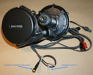 BAFANG-250W-BBS01B-mit-Farbdisplay-850C-Anschluesse-fuer-Schaltsensor-und-Licht