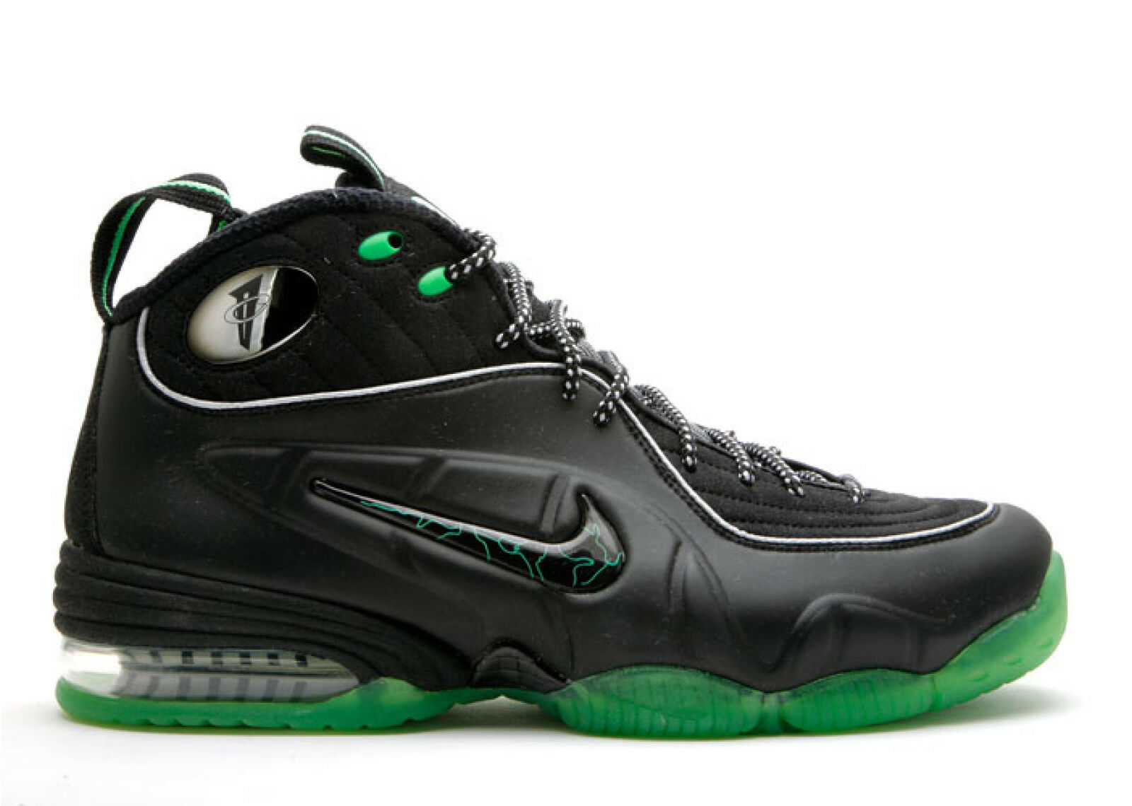 708fde13f585 2009 Nike Air Penny Hardaway 1 2 Half Cent Black 344646-002 US 9 Green  nztsqv10107-Athletic Shoes