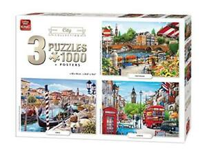 King-5205-City-Collection-3-in-1-Jigsaw-Puzzles-3-x-1000-Piece-Puzzle-68-x-49