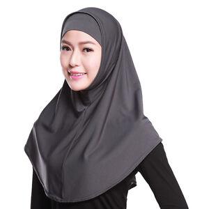 HOT-Muslim-HIJAB-Amira-ISLAMICO-SOLIDO-morbido-FOULARD-LUNGO-TESTA-Scialle