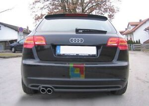 audi a3 8p rear bumper diffuser spoiler lip splitter. Black Bedroom Furniture Sets. Home Design Ideas