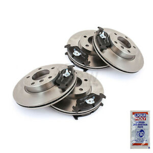 Brake-Discs-Pads-Brake-Pads-Front-Rear-Fred-for-VW-53I-Golf-II-19E-1G1