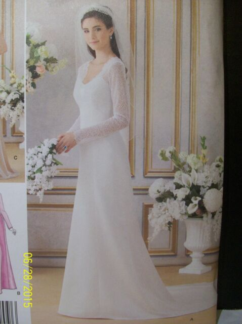 Sewing Pattern Simplicity 1909 Size 6 - 14 Evening or Wedding Gown ...