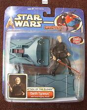 "Star Wars 2002 DARTH TYRANUS with FORCE FLIPPING ATTACK 3.75""  Figure  MOC!"