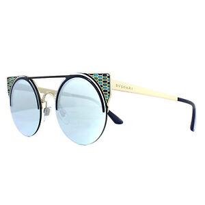 e69b7d1e07 Image is loading Bvlgari-Sunglasses-6088-20206J-Pale-Gold-and-Blue-