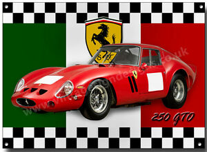 Details about FERRARI 250 GTO METAL SIGN,CLASSIC FERRARI  CARS,FAMOUS,ICONIC,CARS
