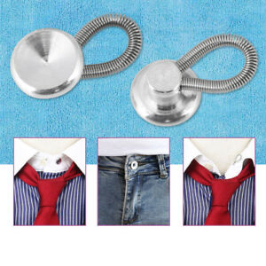 9adcdcf115ce8a 20 Metal Shirt Collar Extenders Expanders Top Neck Tie Buttons W ...