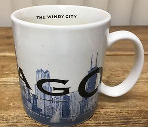 541054ff60b Coffee Mug Starbucks Skyline Series One Chicago The Windy City 2002 ...