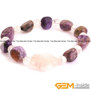 "Handmade Freeform Gemstone Nuggut Beaded Bracelet Fashion Jewelry For Women 7"""