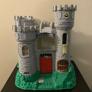 Vintage-Fisher-Price-Great-Adventures-Medieval-Castle-7110-1994-No-Knights-Inc