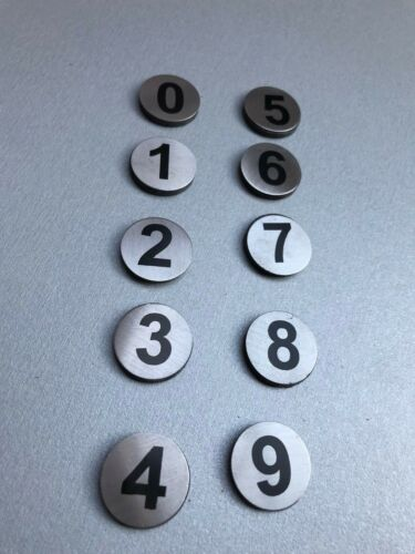 5-9 Auftrag Gastro Bon 5-10 Edelstahl Magnete Pinwand Kühlschrank Magnet 0-4