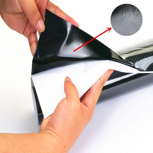 25x150CM Durable 5D Carbon Fiber Black Vinyl Wrap Bubble Free Air Release Film