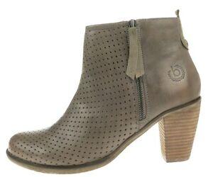 Bugatti-Damenschuhe-NEU-Stiefelette-AURORA-EVO-V4036-taupe-Echtleder-Ankle-Boot