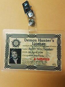 Supernatural-ID-Badge-Demon-Hunter-License-John-Winchester-costume-cosplay