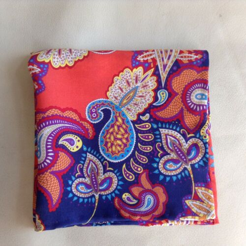 Crazy paisley Liberty of London silk pocket square