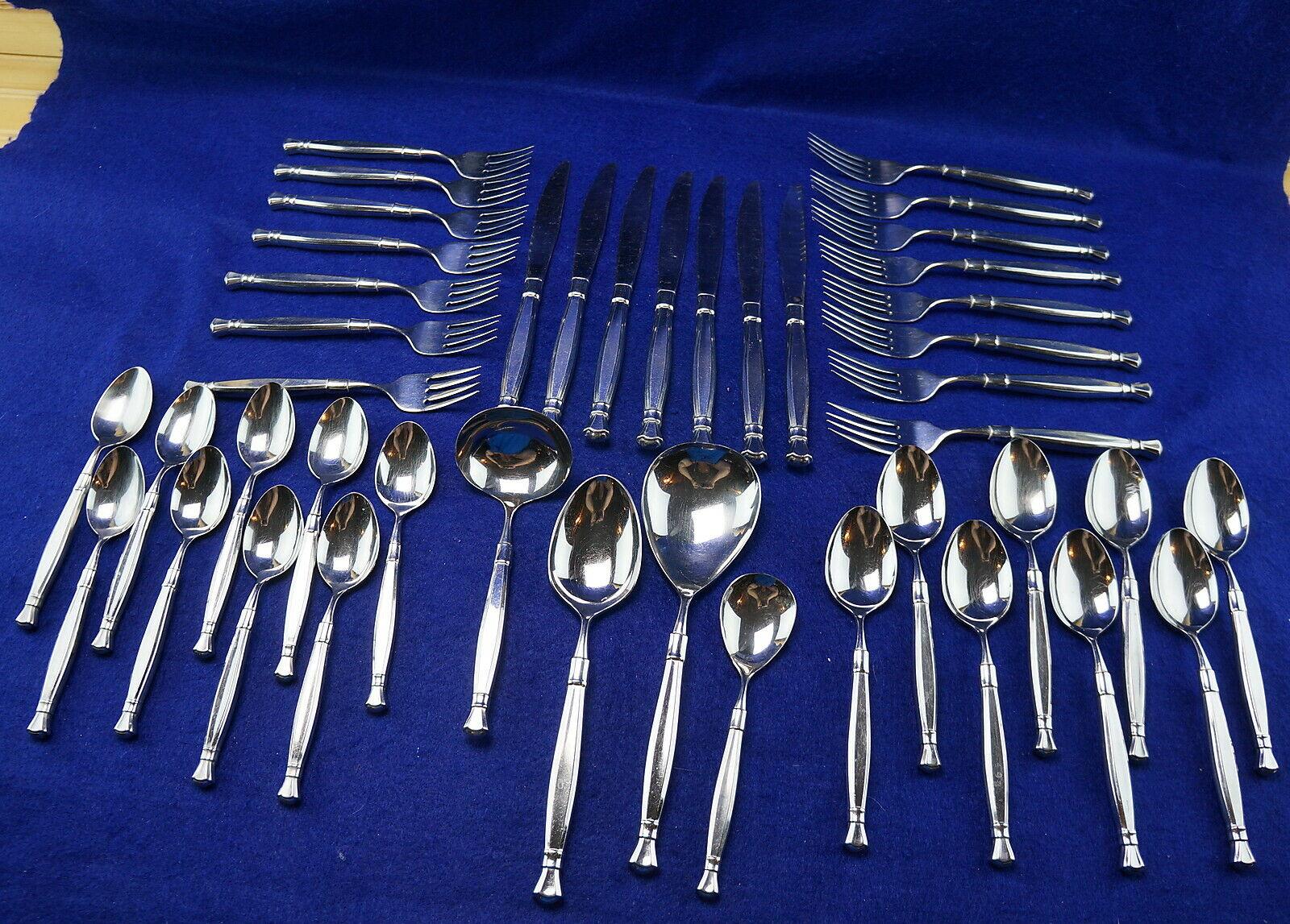 Oneida Act 1 (43) pièces-fourchettes-Couteaux-Cuillères - 4 Portion PIECES Gravy Casserole + +