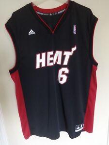 ecc042581 Vintage EUC NBA Miami Heat LeBron James   6 Basketball Jersey by ...