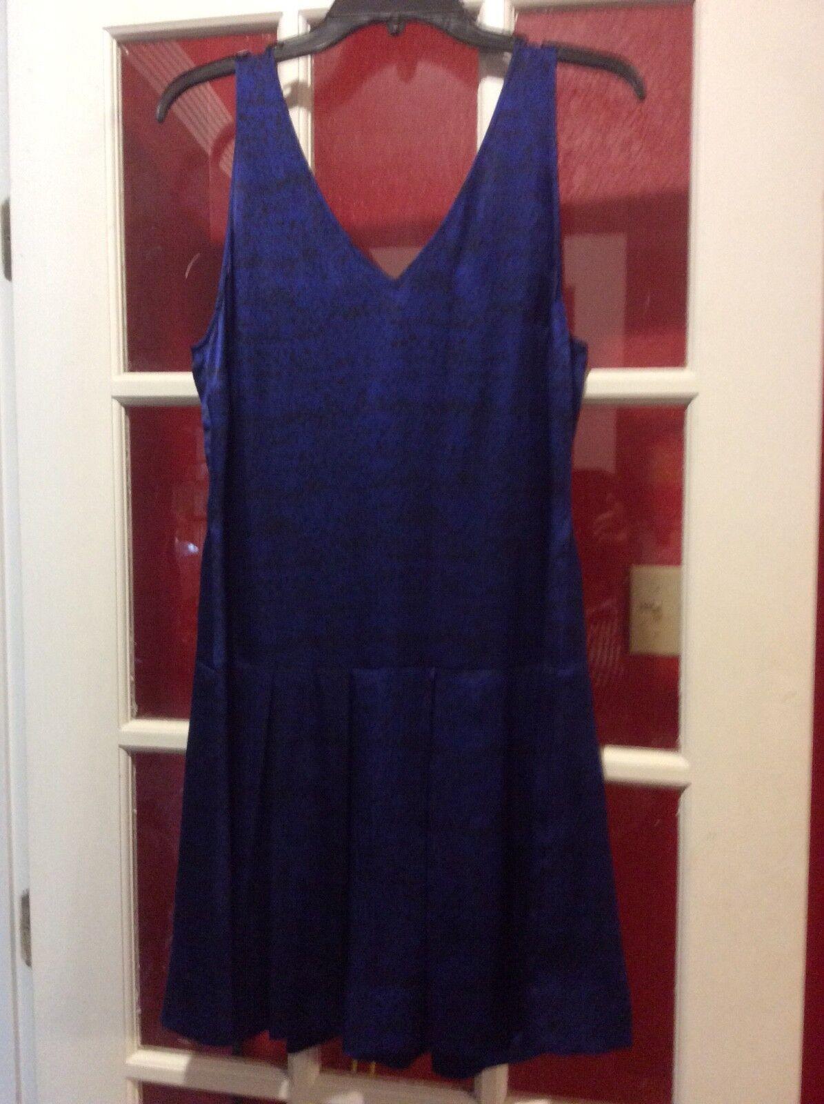 Rebecca Taylor, bluee Silk Silk Silk Dress, Size 8 d74cdb