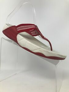 8327223a209a Image is loading FitFlop-Walkstar-Sandals-Red-Thong-Women-Size-9