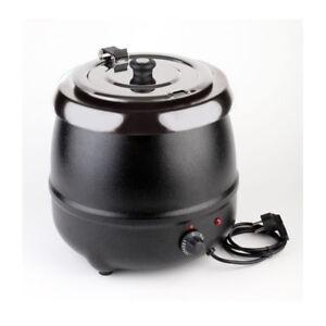Elektrischer-Suppentopf-Suppenstation-Suppenwaermer-Suppenkugeltopf-9-L-32-cm