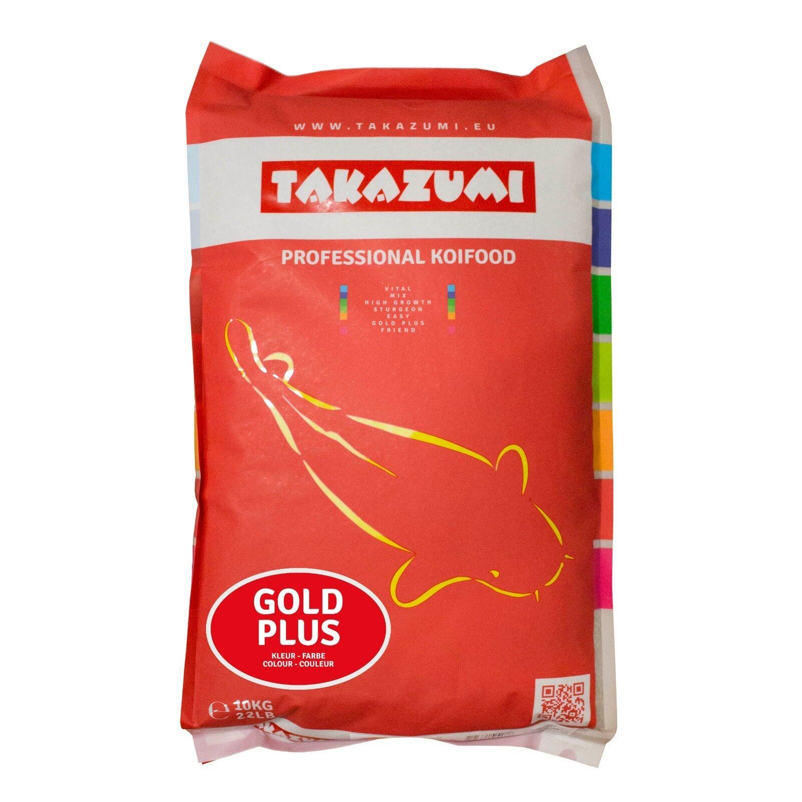 TAKAZUMI Gold PLUS 4,5 mm Professionelles Koi Futter Farben Wachstum 10 kg Sack