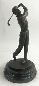 Bobby-Jones-Golfer-Golf-Club-Collector-Sports-Memorabilia-Bronze-Marble-Statue