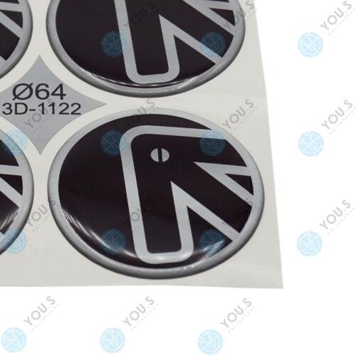 S COPRIMOZZO ADESIVO SILICONE 64,0 mm-Freccia Logo Autoadesivo-NUOVO 4 x you