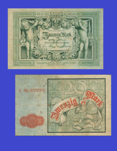 UNC GERMANY 20 MARK 1882 Reproduction