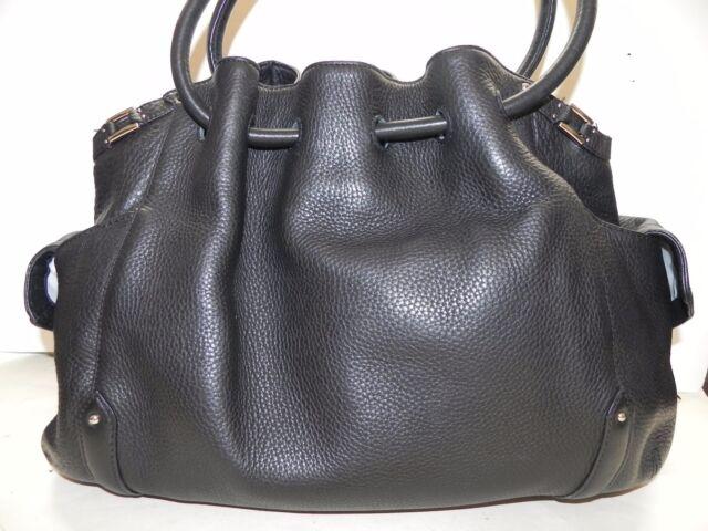 Cole Haan~Village Black Leather Large Tote Handbag~LN