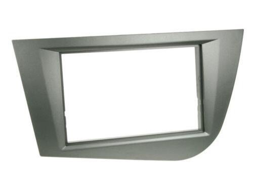 SEAT LEON 1P 1PN  Auto Radio Blende Einbau Rahmen Zier Blende Doppel-DIN 2-DIN