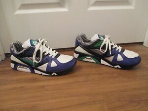 9b0e38d434b2 Used Worn Size 14 Nike Air Structure Triax 91 Shoes White Black Blue ...