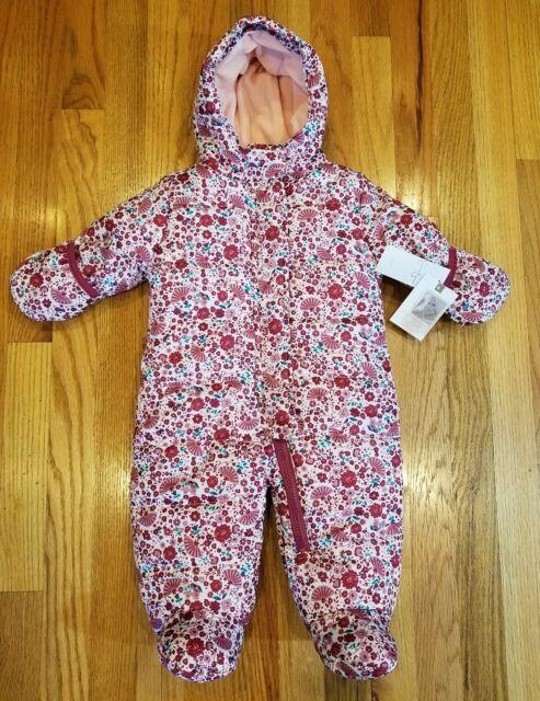 Jessica Simpson Baby Floral Print Snowsuit Size 3 6 Months