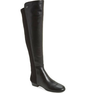 95c3a3c7228 Details about Vince Camuto 'Karita' Over the Knee Boot Size 8 Black  Neoprene & Leather OTK