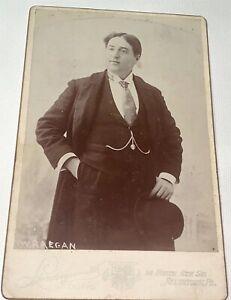 Rare Antique Victorian American Actor J. W. Reagan! Allentown PA Cabinet Photo!