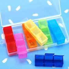 Bonbon farbig Pillendosen mit 21 Mini Büchse 7 Tage Tablette Aufbewahrung Kasten