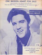 Un cuore infranto in vendita-ELVIS PRESLEY - 1963 SPARTITI MUSICALI