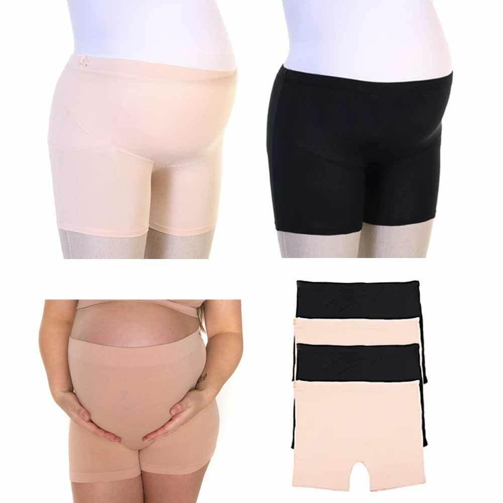 4 PC Bauch Unterstützung Stretch Shorts Modal Schwangerschaft Über Unterwäsche S