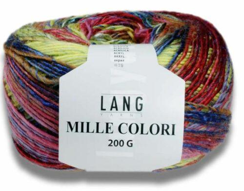 alle Farben MILLE COLORI 200 G 200g Lang Yarns noch komplexere Farbmischungen
