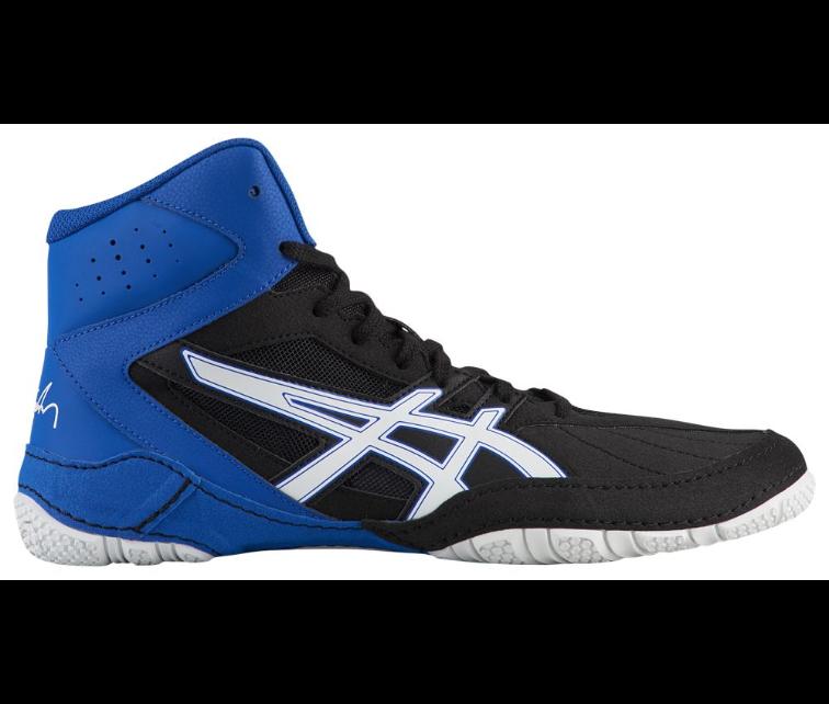 Asics matcontrol para hombre 1081A022.002 Negro blancoo Zapatos de lucha