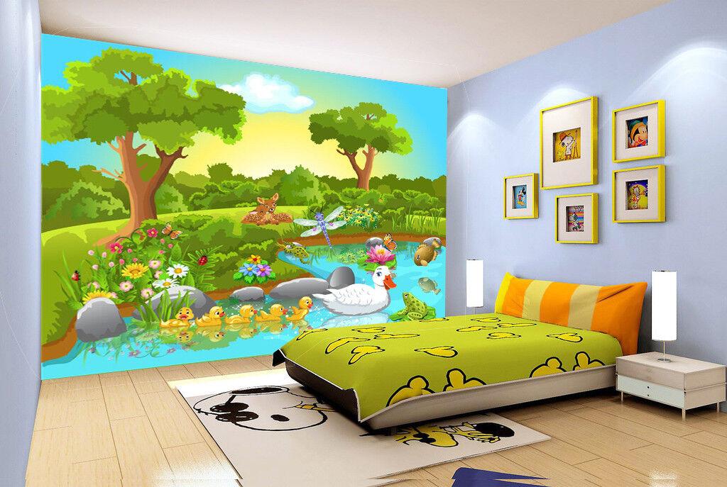 3D Animals Spring 754 Wall Paper Murals Wall Print Wall Wallpaper Mural AU Kyra