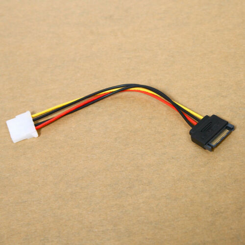 4-Pin Male to IDE SATA 15-Pin Female Connector Cord Power Drive Adapter Cables