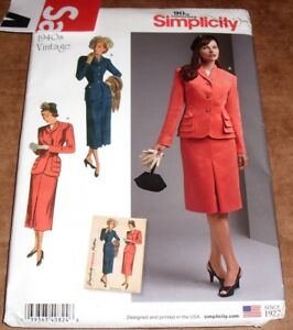 48cfb25dcef Image is loading Simplicity-8508-D0824-Vintage-1940s-Style-Lined-Jacket-