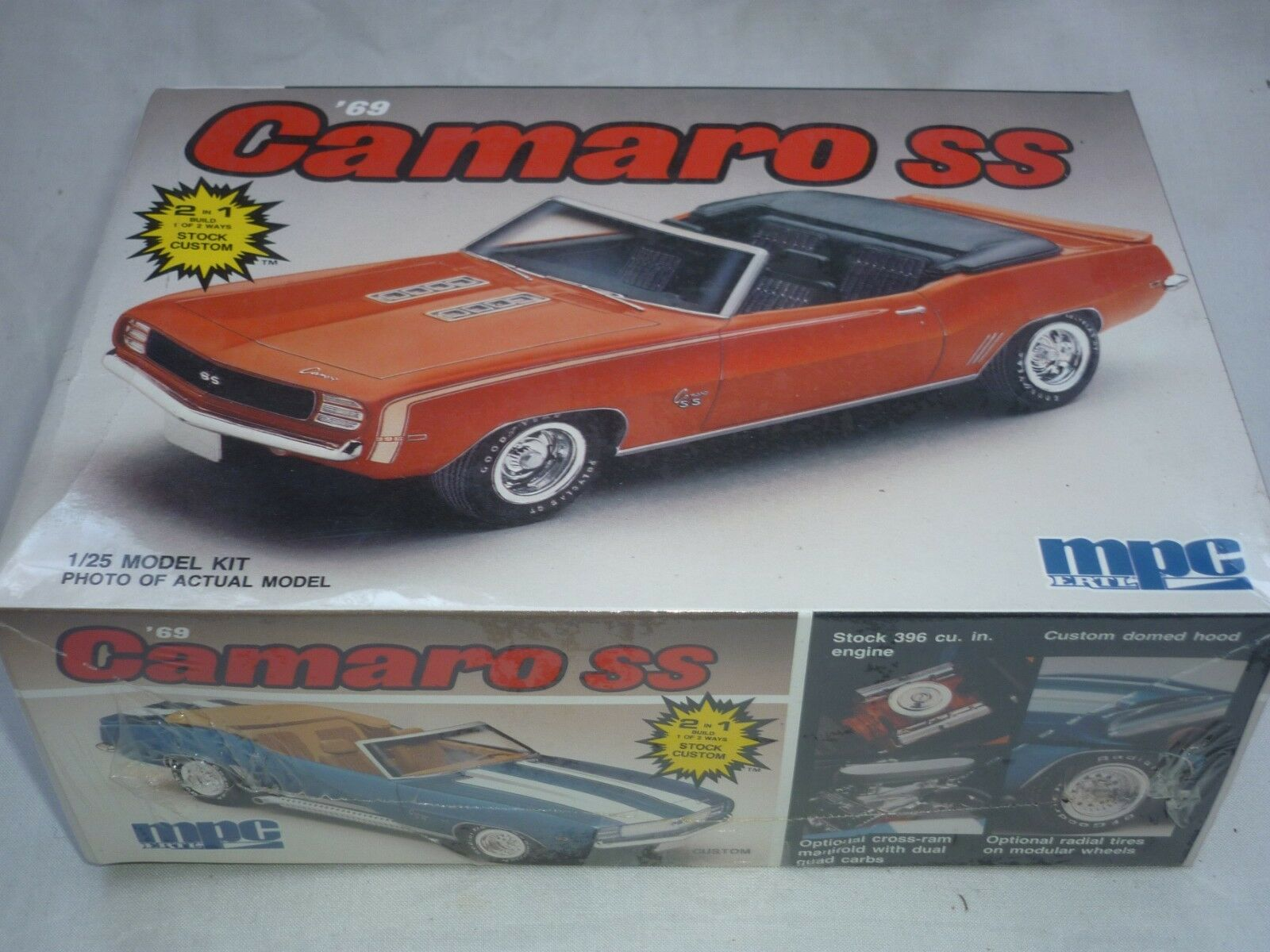 MPC   Ertl un opened plastic kit of a 1969 Camaro SS,  factory sealed