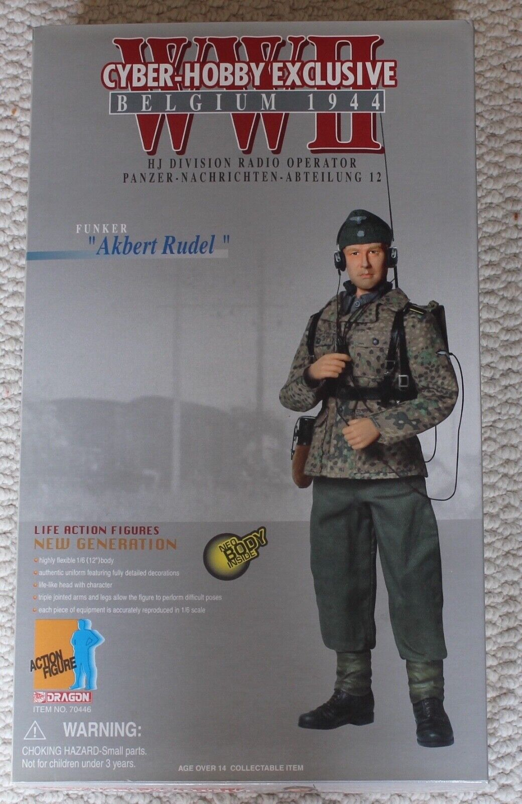 Dragon action figure ww11 akbert rudel  1 6 12'' 70446 did cyber hot toy