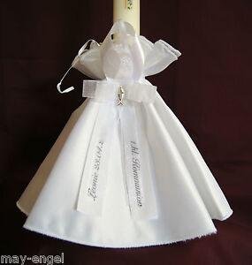 Kommunionkleid Braut Jungen Mädchen *19 Kerzenrock Kerzentuch Tropfschutz z