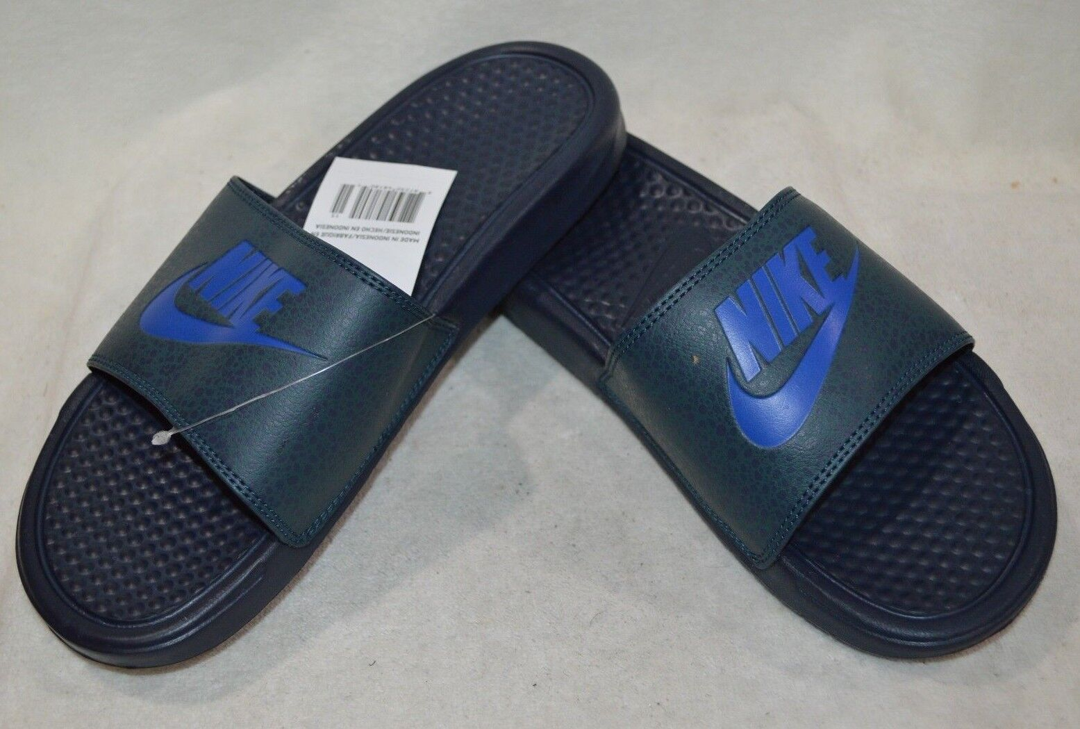 reputable site bbc78 0104b Nike Benassi JDI JDI JDI Print Obsidian R-Blue Men s Slides Sandals-8
